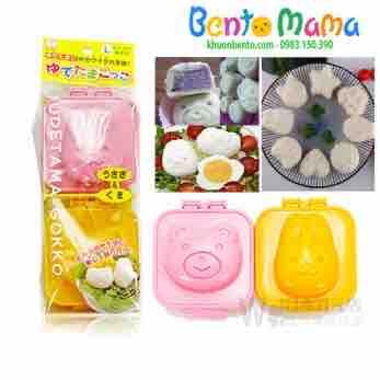 Set 2 khuôn ép cơm, ép trứng, làm bánh gấu thỏ hàng xách Nhật