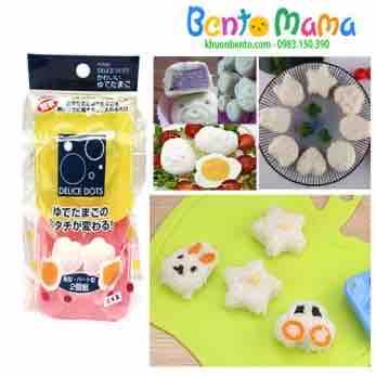 Set 2 khuôn ép cơm, ép trứng, làm bánh sao tim hàng xách Nhật