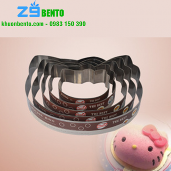 Khuôn Mousse ring Kitty 10 inch