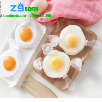 Khuôn làm kem 2 hình trứng