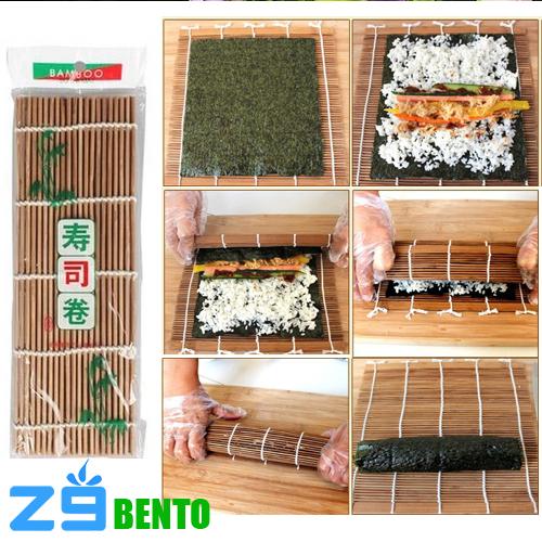 Mành tre cuốn sushi tăm nâu