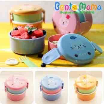 Hộp cơm Bento mini hoạt hình tròn