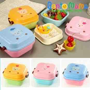 Hộp cơm Bento mini  vuông cho bé
