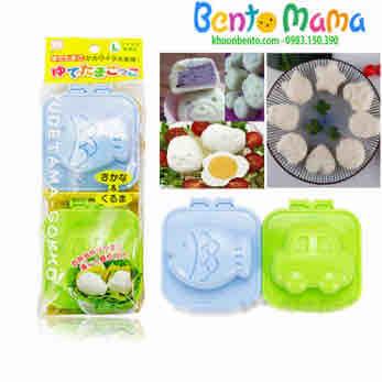 Set 2 khuôn ép cơm, ép trứng, làm bánh ô tô cá hàng xách Nhật