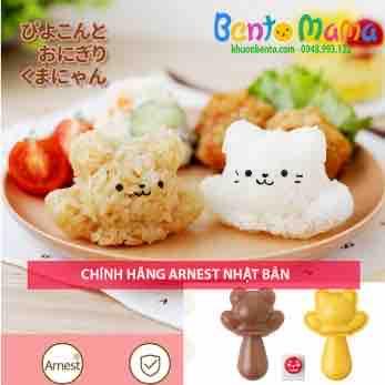 Bộ ép cơm mèo con gấu con 1 cái ôm Nhật Arnest