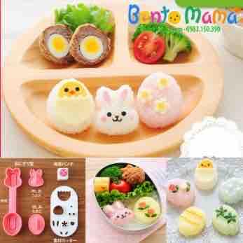 Bộ khuôn ép cơm bento Nhật Bản gà thỏ trứng