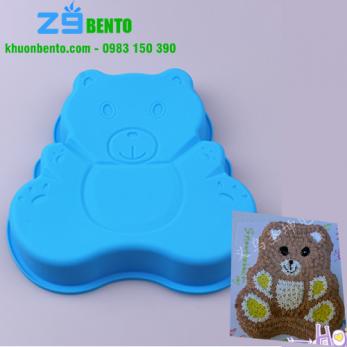 Khuôn silicon Gấu Bear