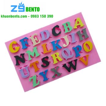 Khuôn rau câu 4D silicon 24 chữ cái