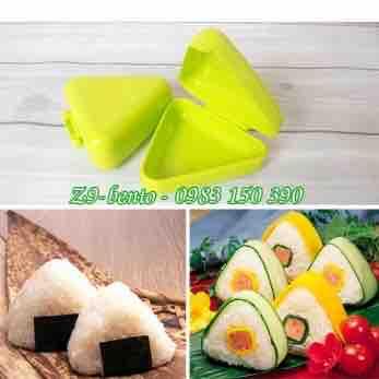 Khuôn ép cơm bento sushi tam giác 10cm