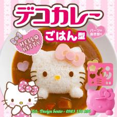 Bộ khuôn ép cơm bento mèo hello kitty baby