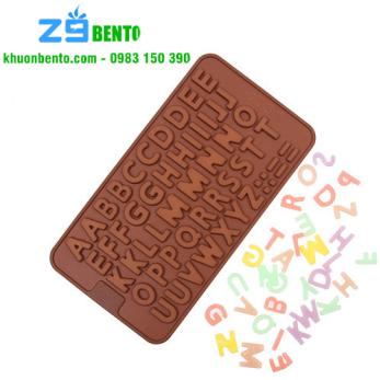 Khuôn thạch socola silicon bảng chữ cái