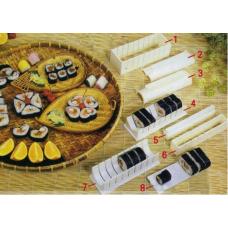 Bộ khuôn làm sushi 10 chi tiết